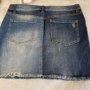 Jessica Simpson Skirts - 🆕️ Jessica Simpson Distressed Faded Jean Skirt